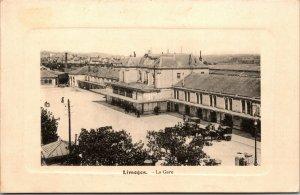 LIMOGES BOULEVARD - LA GARE VINTAGE POSTCARD RPPC