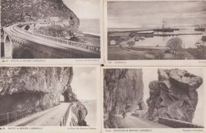 Route de Bougie a Djidjelli A Bougie Set of 4 Algeria Algerian Postcard s