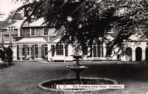 The Antrobus Arms Hotel, Amesbury, England, Early Real Photo Postcard, Unused