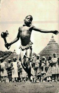 Africa Afrique Noire Jeune Danseur de Boundiali Dancing Boy Real Photo 03.93