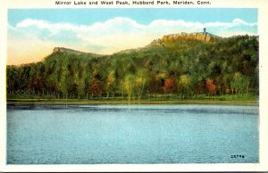 Connecticut Meriden Hubbard Park Mirror Lake and West Peak