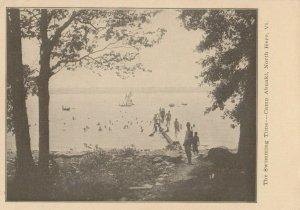 NORTH HERO , Vermont, 1900-10s ; Camp Abnaki ; The Swimming Time