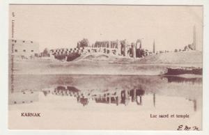 P310 JL postcard 1904 egypt karnak temple upu card