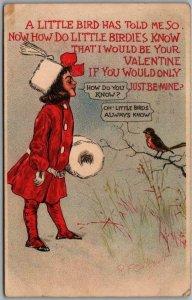 1907 Artist-Signed R.F. OUTCAULT Postcard A Little Bird Has Told Me… Valentine