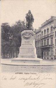 ANVERS, Antwerp, Belgium; Statue Teniers, 00-10s