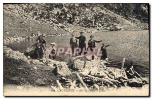 Old Postcard Cauterets Gaube Lake