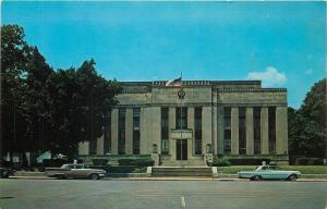 Union City Tennessee~Early 1960s Cars @ Obion County Courthouse~1950s Postcard