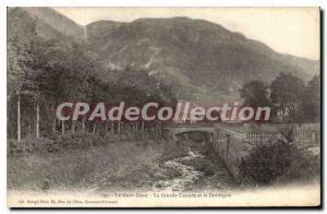 Old Postcard Le Mont Dore La Grande Cascade And The Dordogne