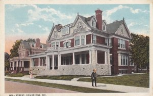 CAMBRIDGE, Maryland, 1910-1930s; Mill Street