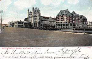 Marlborough House, Atlantic City, New Jersey, Early Postcard, Used in 1906