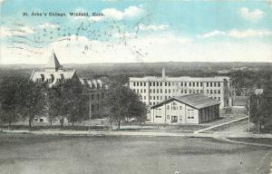 1915 Winfield Kansas St John's College Kropp postcard 12267