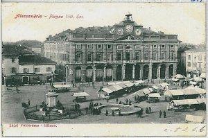 CARTOLINA d'Epoca - ALESSANDRIA Città - MERCATO 1905