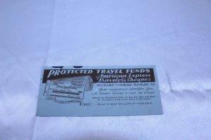 Vintage 1941 Advertising Ink Blotter American Express