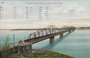 Iowa Sioux City Combination Bridge 1909