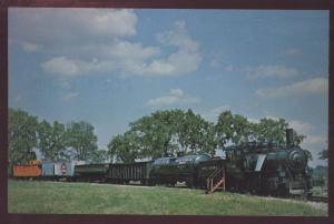 Milwaukee Road Train Caboose Mikado Locomotive Green Bay Railroad Postcard