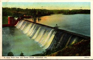 Georgia Columbus Goat Rock Dam and Power House 1943 Curteich