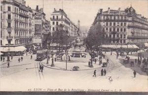 France Lyon Place et Rue de la Republique Monument Carnot