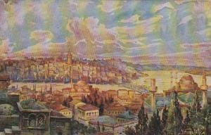 Turkey Constantinople Vue de Galata et Pera