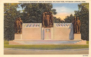 Civil War Post Card Conederate Monument Shiloh National Military Park Unused