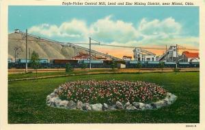 Miami Oklahoma~Eagle-Picher Central Lead Zinc Mine~Tipple~Railroad Box Cars~1940
