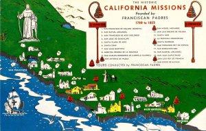 CA - California Missions. Map