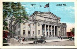 Ohio Columbus Memorial Hall 1927