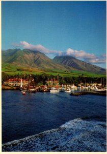 Hawaii Maui View Of Lahaina Town From The Sea 1987