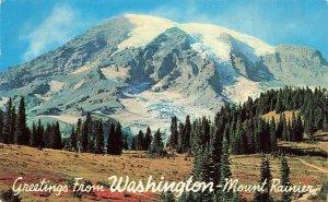 Greetings From Mount Rainier 1968 Washington WA Chrome VTG P116
