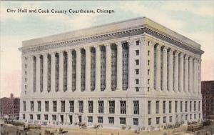 Illinois Chicago City Hall And Cook County Courthouse 1914