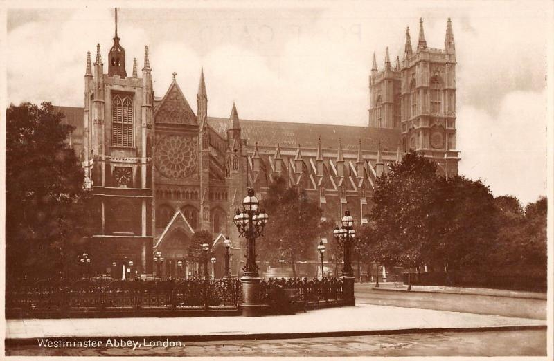 BR80993 westminster abbey london real photo uk