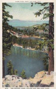 LAKE TAHOE, California, PU-1933; Two Angora Lakes, Fallen Leaf And Lake Tahoe