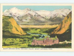 Unused W-Border TOWN VIEW SCENE Banff Alberta AB o1082