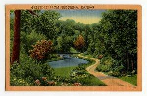Postcard Greetings From Neodesha Kansas Standard View Card