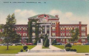 Indiana Indianapolis Robert W Long Hospital 1954
