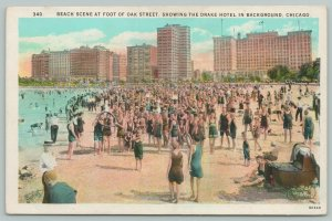 Chicago IL~Oak Street Beach~Bums With Heads in Inner Tube~Baby Carriage~c1916