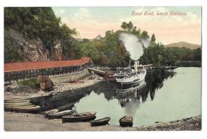 Scotland Loch Katrine Steamer at Trossachs Pier Postcard