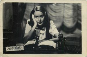 Actress Alida Valli Bucharest censorship postcard Romania