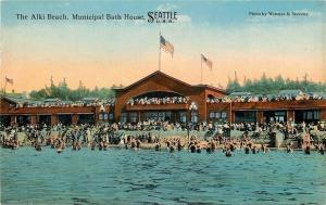 Seattle Washington~Alki Beach Swimmers @ Casino c1910 PC