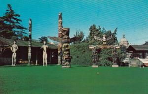 VICTORIA , British Columbia, 1950-60s; Thunderbird Park, Totem Poles on display