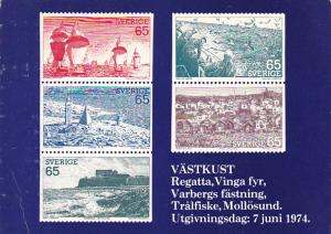 Stamps Of Sweden 1974 Booklet Issue Swedish West Coast