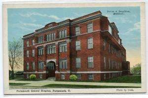 General Hospital Portsmouth Ohio 1920c postcard