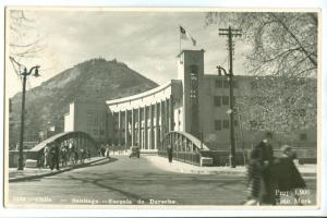 Chile, Santiago, Escuela de Derecho, used real photo Postcard