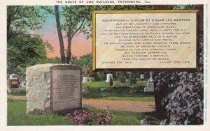PETERSBURG, Illinois, 1900-1910s; The Grave Of Ann Rutledge