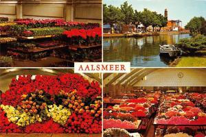 Netherlands Aalsmeer Flowers Market Fleurs River Boats