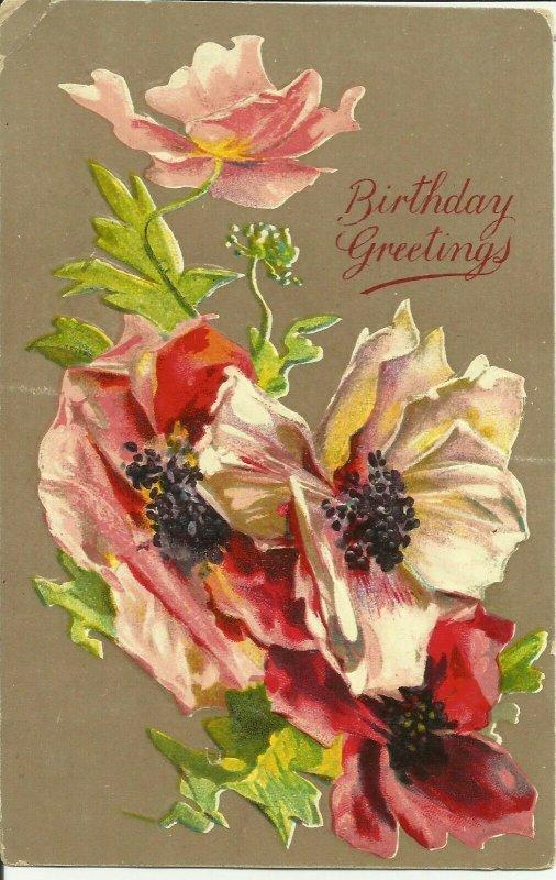 Birthday Greetings--Embossed