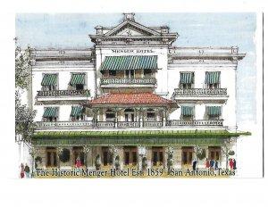 The Historic Menger Hotel 1859 San Antonio Texas 4 by 6 card