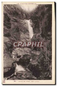 Postcard Old Waterfall taken Juzet Luchon