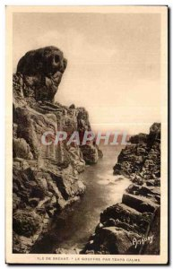 Old Postcard Ile de Brehat The Chasm by Quiet Time