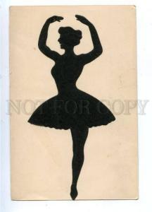 161158 SILHOUETTE Dancer BALLET Vintage LAMBERT PC
