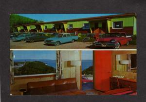 PQ QC Mont Blanc Motel Perce Quebec Canada Carte Postale Postcard Old Cars